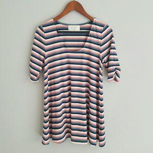 Puella cosima striped knit tunic top M